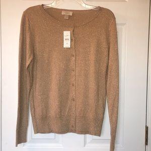 BNWT Gold Sparkly Cardigan Sweater